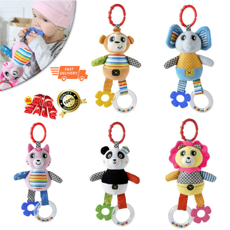 2019 Brand New Baby Plush Toy Bed Stroller Hanging Ring Bell Toys Soft Rattle Educational Doll Soft Cute Ring Bell For Children