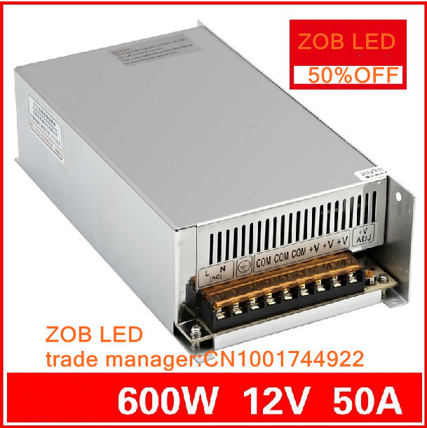 600W 12V 50A LED Switching Power Supply,12V 50A power supply 12V Output,85-265AC input,FREE SHIPPING 480w 500w led switching power supply 12v 40a power supply 12v output 85 265ac input free shipping