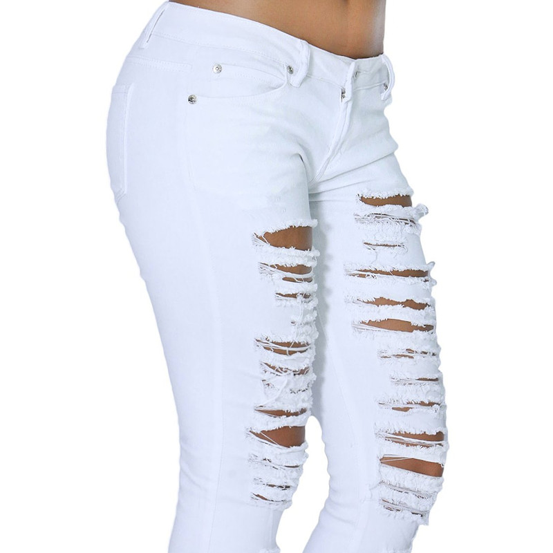 white destroyed skinny jeans plus size - Jean Yu Beauty