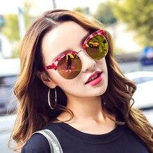 New Fashion Luxury Brand Sunglasses Women Flap Top Summer Style Brand Designer Sun Glasses Oculos de sol