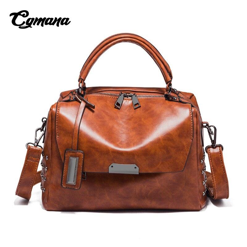 CGMANA Luxury Handbags Women Bags Designer 2018 Brand Classic Shoulder Female Fashion Soft Leather