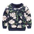Mudkingdom 2-7age niños ropa de los muchachos del niño del suéter estampado de flores de los bebés sudaderas suéter de algodón de alta calidad