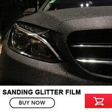 size:1.52x30m(5x98FT ) black quality Matt glitter film for car wrap Matte sanding glitter vinyl car vinyl wraps