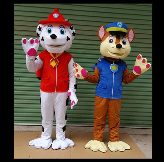 High quality patrouille Chien Mascotte Costume Fancy Dress Suit Cartoon Mascot Chase the mascot costume