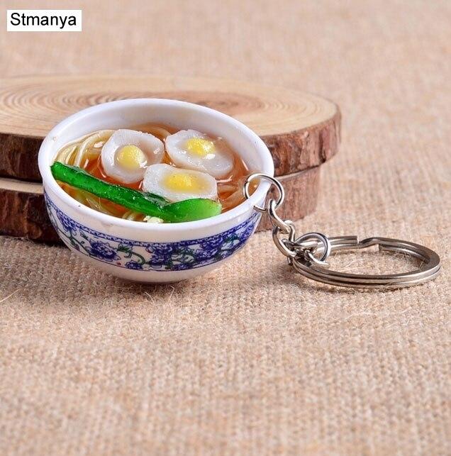 Mini Simulation Food Key Chain Cute Car Bag Keychain Mini Bowl Food 14 Design For Women Bag Charm Key Ring Mujer Jewelry 1-17169
