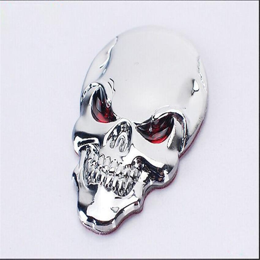 DSYCAR 3D Metal Skull Car Sticker Logo Emblem Badge Decals Car - Exteriör biltillbehör - Foto 4