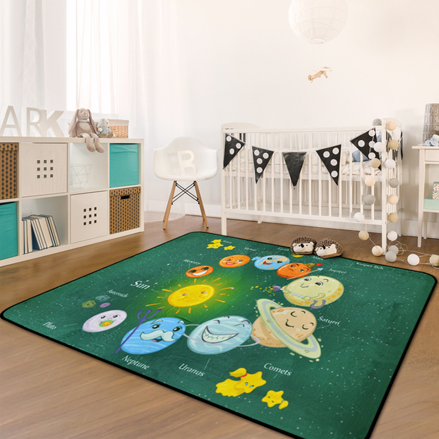 Nordic Cartoon Carpets For Living Room Children Carpet Kids Home Bedroom Rugs And Study