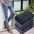 2016 Slim Fit Casuales de Vestir Pantalones Rectos Nueva Ropa de Llegada pantalones Hombres Sliod fitness Pantalon Homme Para Hombre Chándal Más El Tamaño 38
