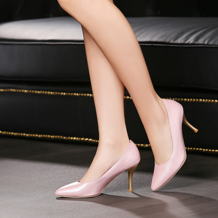 2017 Neue Frauen Schuhe High Heel Zapatos Mujer Tacon Sapato Feminino Große Größe 34-47 Damen Lady Schuhe High Heel Frauen Pumpen 7-9