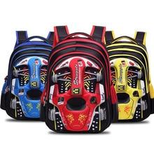 Cartton 3D гоночный автомобиль для мальчиков и девочек детские, для малышей детский сад детские школьная сумка рюкзак Школьная Сумка подростковая детские школьные рюкзаки