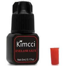Kimcci 5ml ריס דבק 1 3 שניות מהיר ייבוש ריסים הארכת דבק פרו ריסים דבק שחור דבק שימור ארוך האחרון