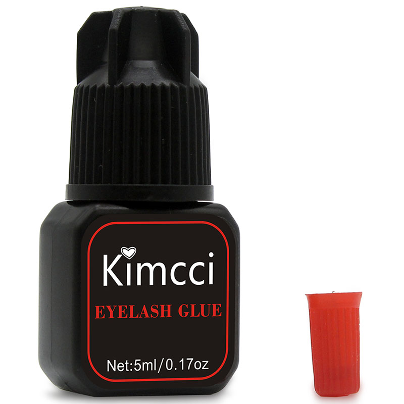 Kimcci 5ml Eyelash Glue 1-3 Seconds Fast Drying Eyelashes Extension Glue Pro Lashes Glue Black Adhesive Retention Long Last