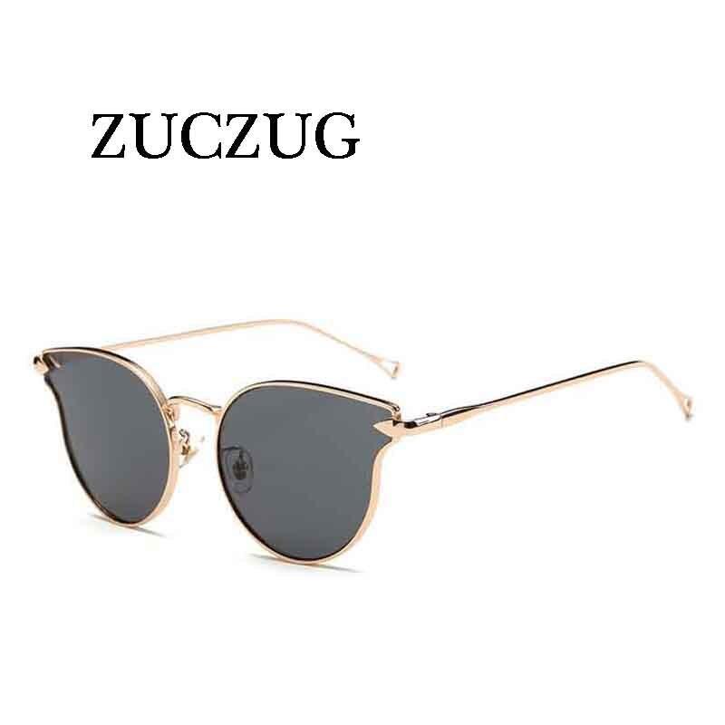 ZUCZUG Módní kočičí brýle, dámské značkové značkové růže, zlato růžové, růžové, sluneční brýle, dámské sluneční brýle CatEye Arrow UV400