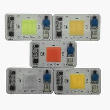 5pcs 50W 110V 220V COB High Power led chip built-in driver  Full Spectrum Red Green Blue Royal blue Warm white Cool LED