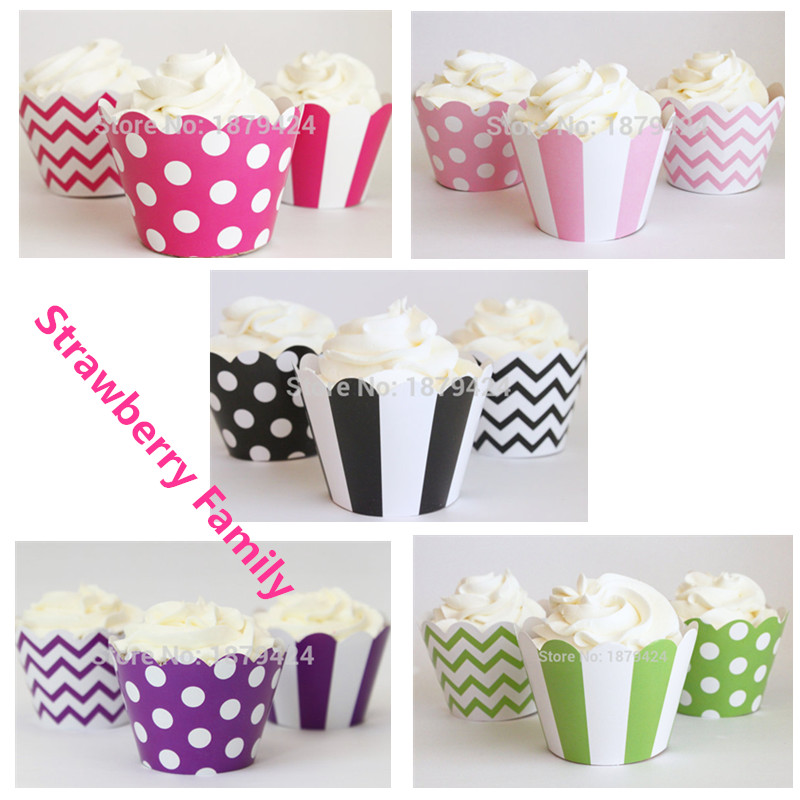image about Printable Cupcake Wrappers titled Sizzling Design and style Striped Wave Polka dot printable cupcake wrappers