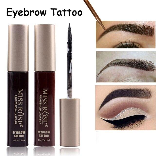 Miss Rose 3d Fiber Eyebrow Gel Tint Cream Paint Eye Brow Makeup