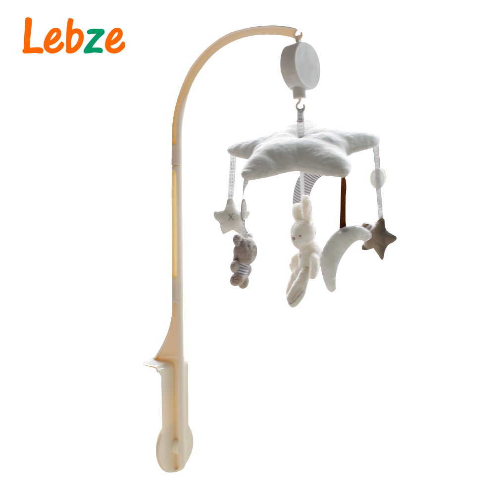 Baby Crib Musical Mobile Cot Bell Music Box with Holder Arm Baby Bed Hanging Rattle Toys Newborn Gift Learning& Education
