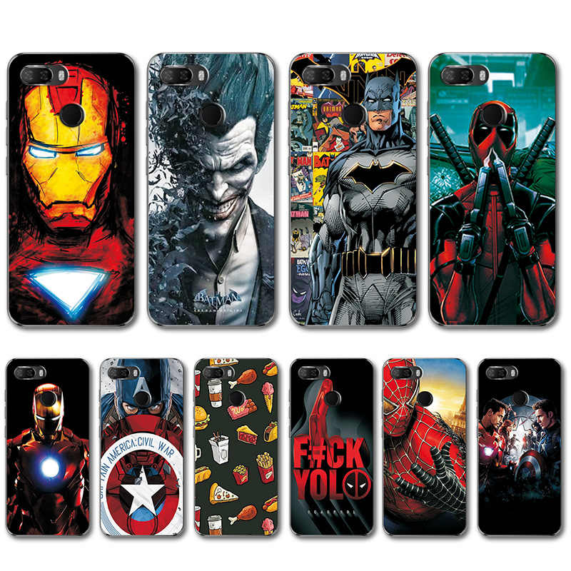 cheap for discount c201b 9c788 Captain America Back Cover For Lenovo K5 Play L38011 ZUI 3.7 4G Novelty  Superhero Silicone Phone Case Bumper For Lenovo K5 Play
