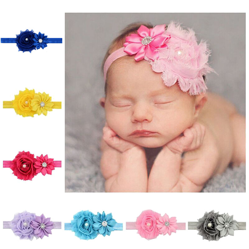 Children's flower hair band mini ribbon bow end newborn girl hair band hair accessories headband hair band   headwear