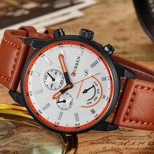 Creative Men Watch Curren Fashion Casual Sport Quartz Watch Top Brand Luxury Leather Drop Shipping Wristwatch Best Gift for Male цены