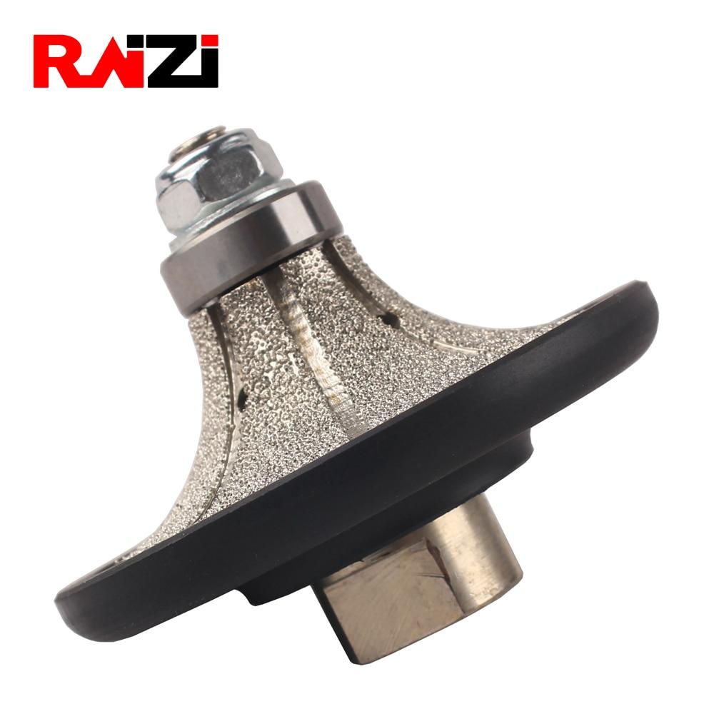 Raizi Demi Bullnose Vacuum Brazed Diamond Hand Profile Profiling Wheel For Granite 5/8
