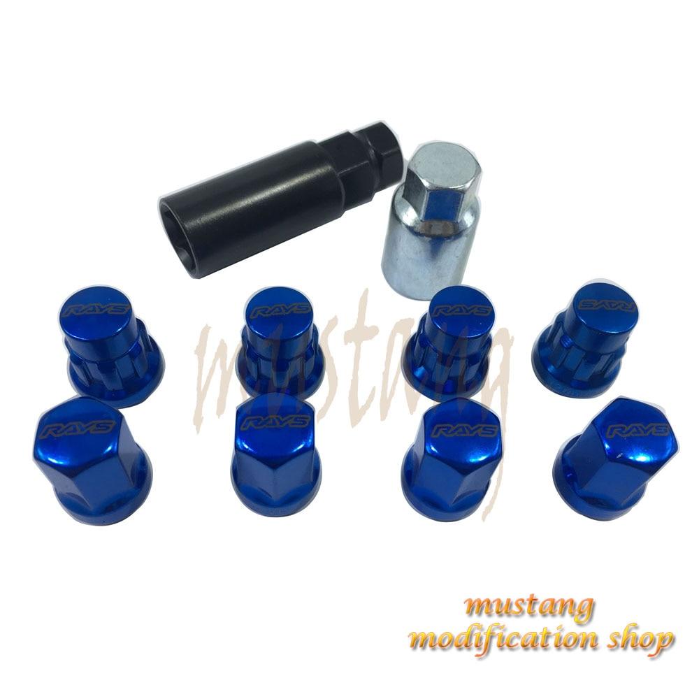 JDM RAYS car accessories Wheel Nuts Screws Anti-theft Lock Nuts Lug Nuts Duralumin Length 32mm M12 X P1.25/P1.5 steel