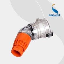 цена на SAIPWELL 2014 New Industrial Socket IP67 Waterproof Electrical Socket 4P+E 32A Coupler