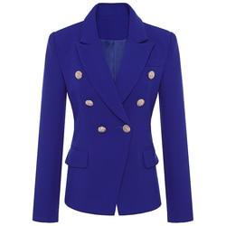 Nueva chaqueta de diseño 2020 de pasarela de alta calidad, chaqueta de Metal con botones de León y doble botonadura, S-XXXL exterior