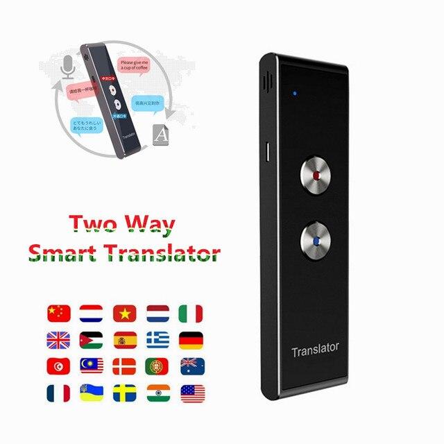 נייד חכם קול מתורגמן שני דרך שדרוג גרסה ללימוד נסיעות עסקים ישיבות 3 ב 1 קול שפה מתורגמן