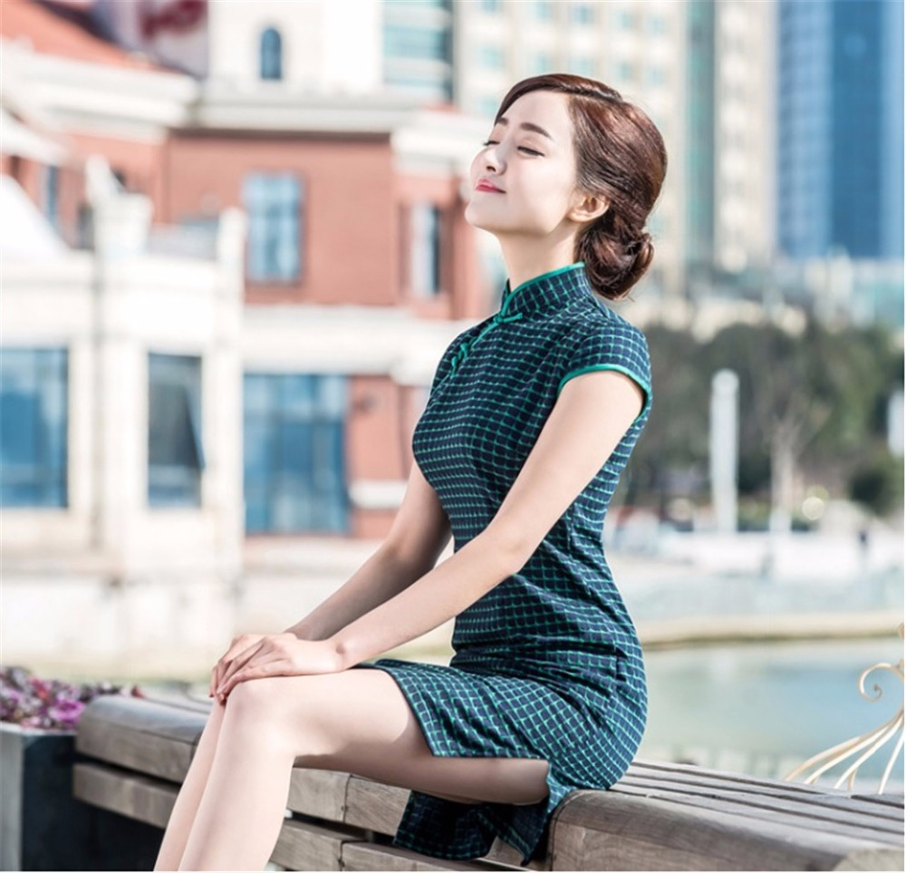 Shanghai Story Lattice Cheongsam Dress Traditional Chinese Style Oriental Dress Chinese Qipao For Women