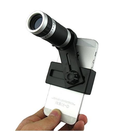 Universal 8X Zoom óptico Telescope Camera Lens com Mini tripé suporte para iPhone 6 e 5 5S Samsung Galaxy I9600 S5