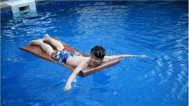 Swimming Chocolate Color Beanbag Bed Outdoor Hot Spring Water Floating Bed Water Bed Floating Bed Surf Factory Outlets