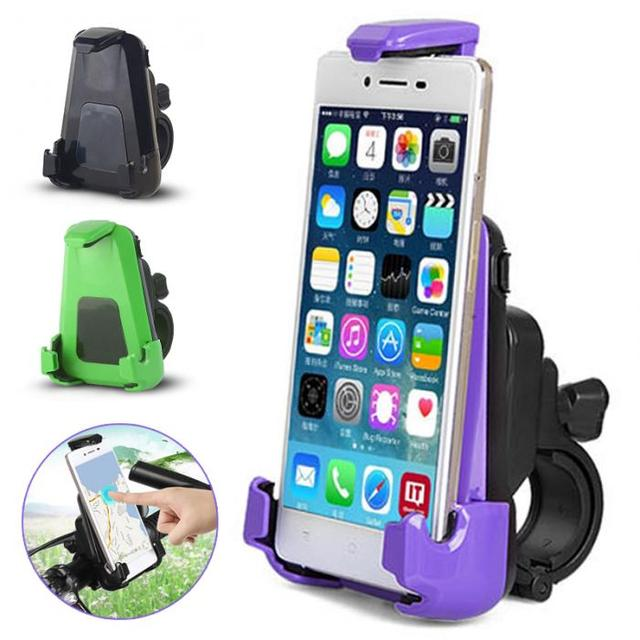 Phone Holder Motorcycle Bicycle Mount Holder Stand for iPhone 6 Plus Max Size: 16 x 9cm H-M-X19