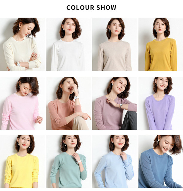 Yellow Cashmere Sweater For Women Sweaters Female Pink Wool Winter Woman Sweater Knitting Pullovers Knitted Sweaters Jumper 2019 15