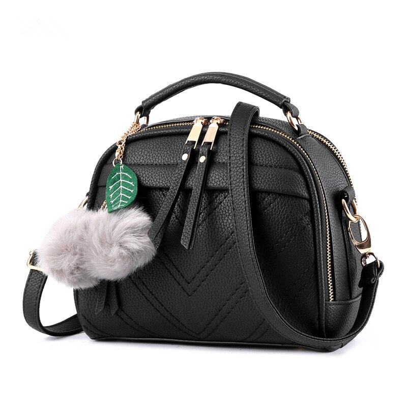 купить Fashion Elegant Black PU Women Shoulder Bag Small Lady Handbag Cusual Crossbody Messenger Zipper по цене 3313.16 рублей