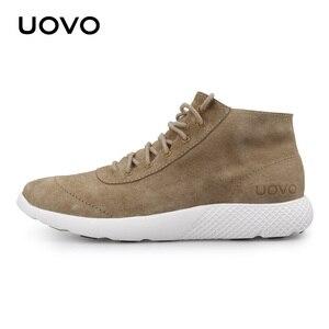 Image 4 - Men Shoes Casual Shoes New Design Water Repellent Genuine Leather Shoes Lightweight Durable Rubber Sole Shoes Men Eur #40 44