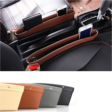 Car supplies storage folder PP leather seat slot car box with multi-function books / mobile phone card wallet