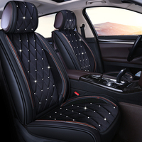 Car seat cover Studded Rhinestone plush car seat cushion for BUICK Regal GL8 Lacrosse Park Avenue Enclave Encore