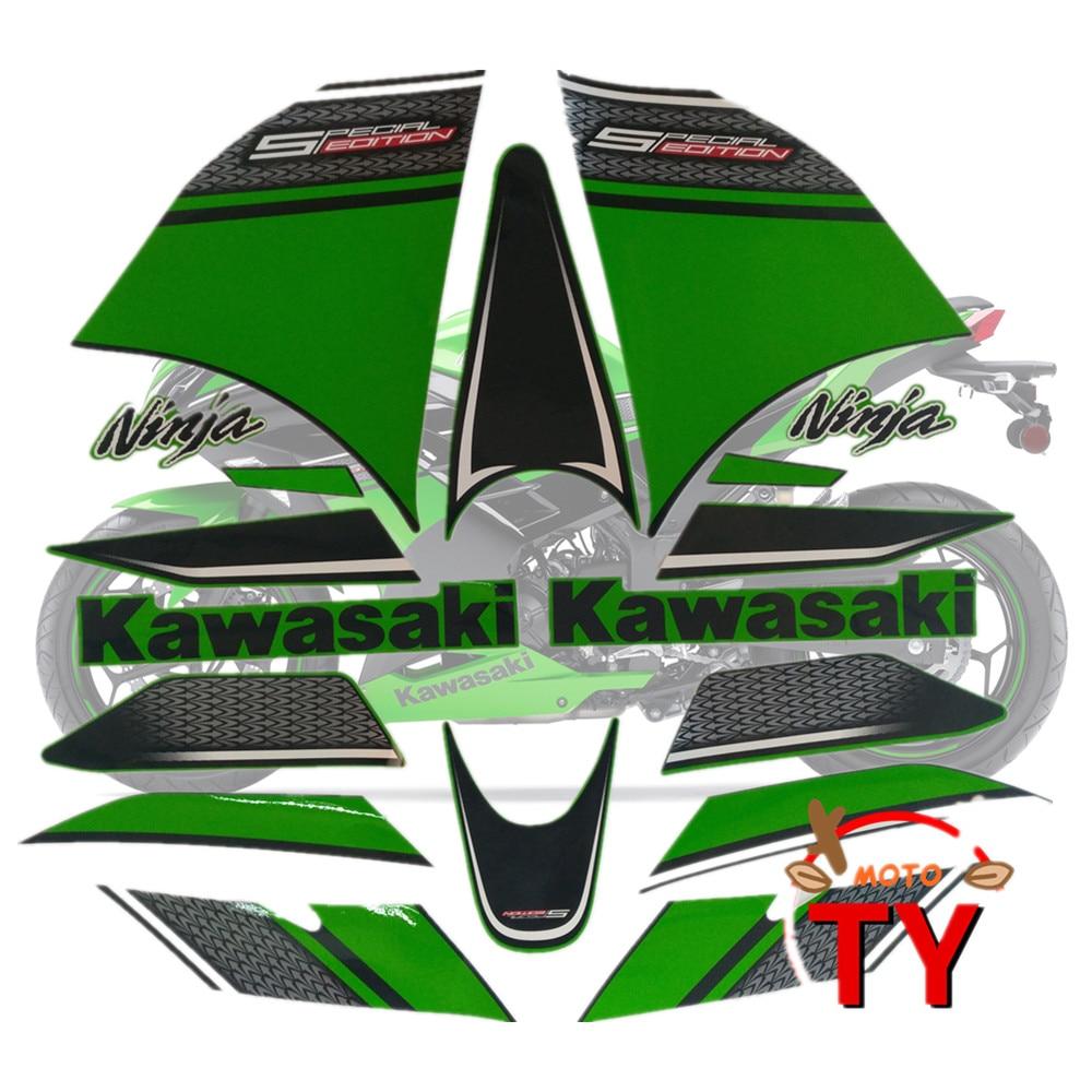 Motorcycle For Kawasaki Ninja300 13-14 Ninja 300 2013-2014 Fairing Sticker Full Kit Applique High Quality Whole Vehicle Decal
