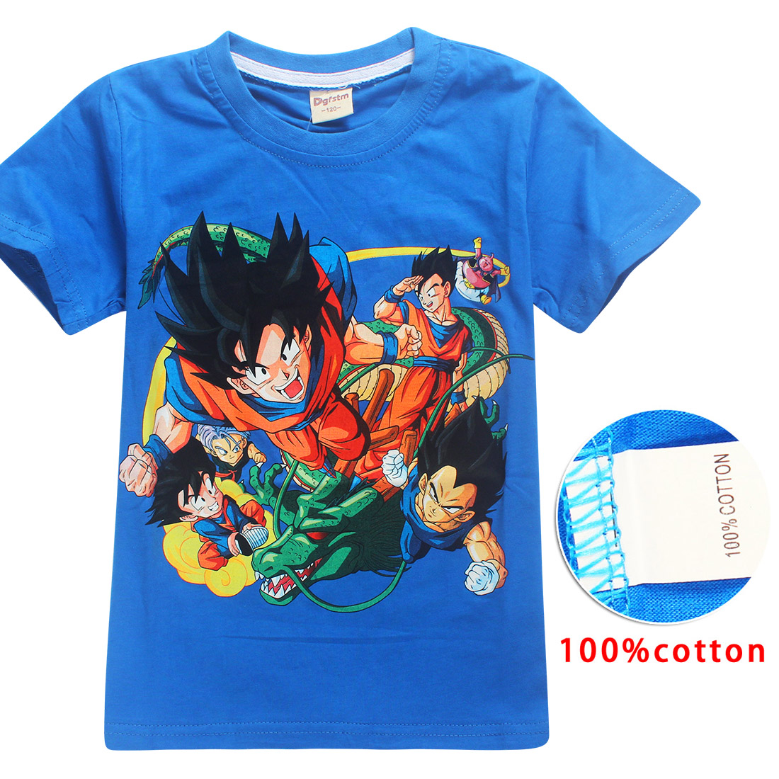 4-12Year Dragon ball t shirt summer top kids clothes baby girls boys clothes bobo choses cartoon 100%cotton tshirt 2018 kid tees