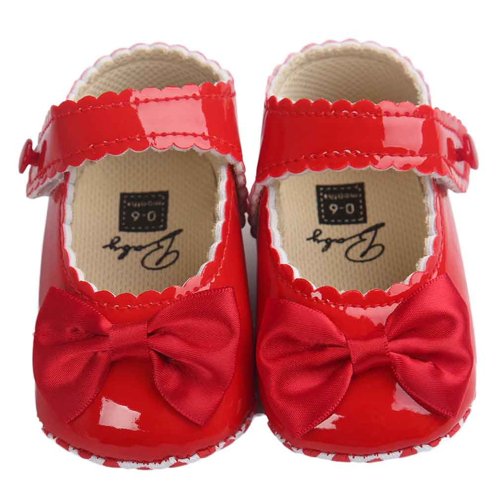 db38e55d3 Baby Girl shoes lovely Bowknot Leather 5 color Shoes Anti-Slip Sneakers  Soft Sole toddler shoes 0-12 month drop ship