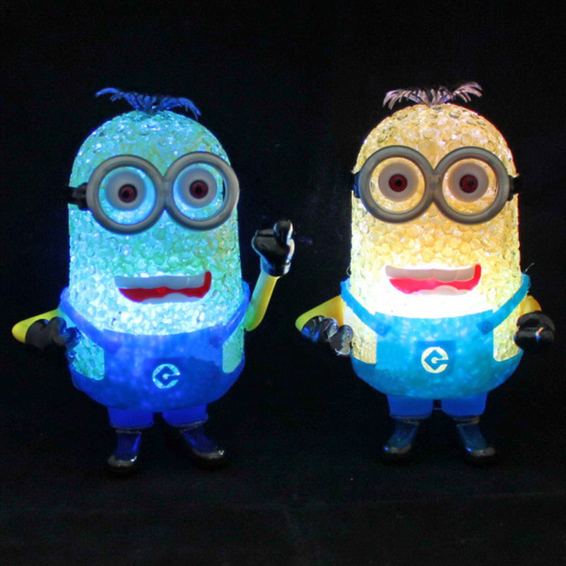 Minions Night Lights Color Changing LED Lights Children's Glowing Toys Bedroom Get Up Lights Birthday Gift Kid Room Decoration