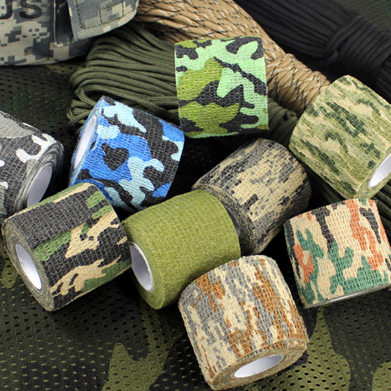 Multi-functional Camo Tape Non-woven Self-adhesive Camouflage Wrap Hunting Cycling Waterproof Non-Slip Camo Stealth Tape ...