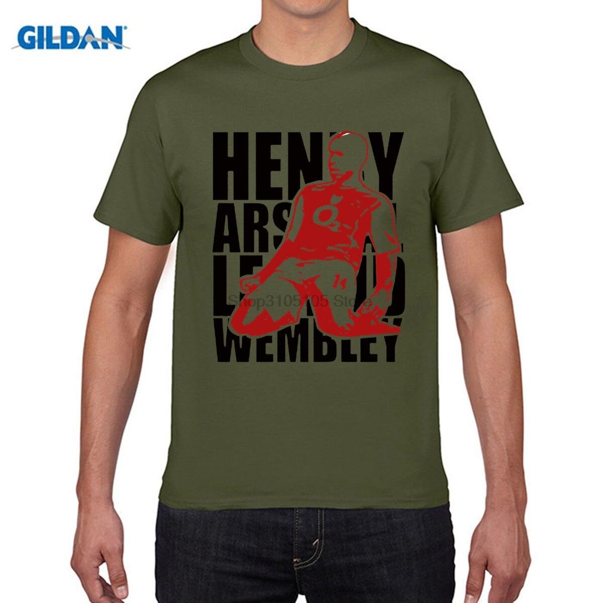 GILDAN funny men t shirt Thierry La Liga French Highbury King 100% cotton jersey shirt