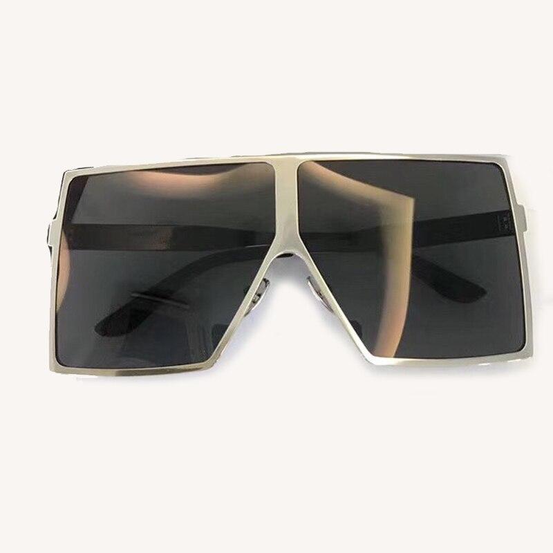 Steampunk carré lunettes De soleil femmes grand cadre avec dégradé UV400 lentille 2018 mode accessoires lunettes Oculos De Sol lunettes De soleil - 4