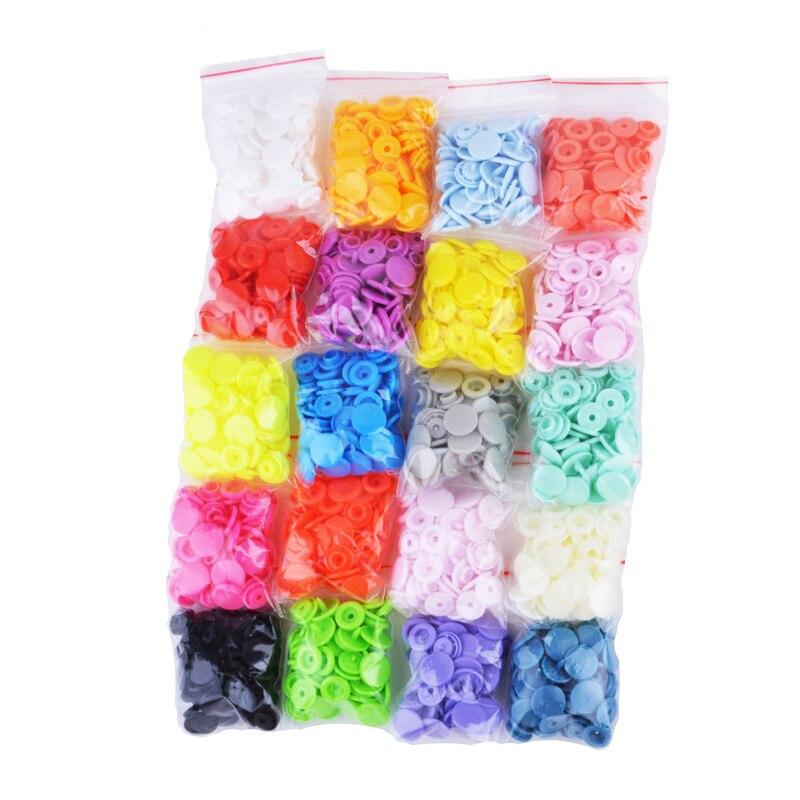 300セット20色混合t5 12ミリメートルファスナーkamプラスチック樹脂スナップボタンキットdiyの縫製生地クラフトツール
