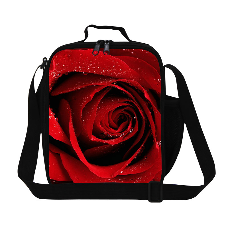b7fbc068d98a women plain lunch bag flower printing insulated lunch box for office kids  picnic cool bag cooler lunch shoulder bags-in Lunch Bags from Luggage   Bags  on ...