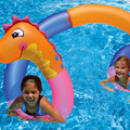 Giant Inflatable Snake Swimming Ring Pool Float Colorful Children Summer Water Outdoor Fun Toys Beach Lounger Air Mattress Raft