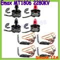 4 компл./лот EMAX MT1806 2280KV CW & КНО Безщеточный & EMAX SimonK ESC 12A для C250 QAV250 Мультикоптер Multicopter оптовая