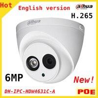 English 6MP Dahua H 265 IP Camera DH IPC HDW4631C A IR 30M Built In Microphone